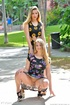 Shameless delicious lesbians have no panties under their pretty summer
