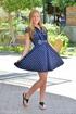 Blonde in polka dot dress can't wait until she…