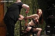 gorgeous redhead gets tied