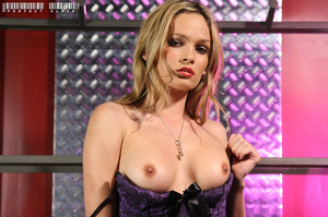 Blonde bombshell teases with her allurin - XXX Dessert - Picture 1