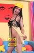 Naughty ebony transsexual lady with long hair