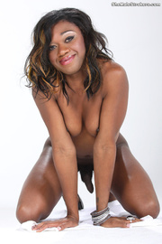 petite ebony tranny displaying
