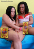 Two black tranny whores are ready for oral sex
