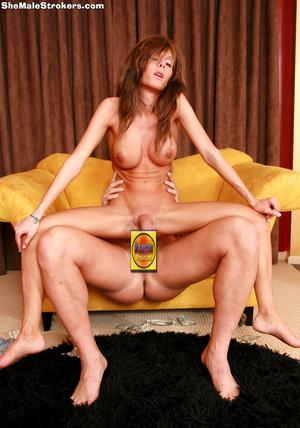 Brown haired tranny slut just wants a hu - XXX Dessert - Picture 1