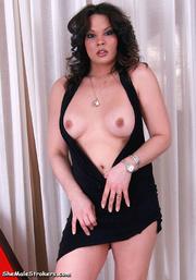 brunette trans lady black
