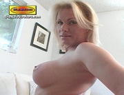 mature blonde tranny takes