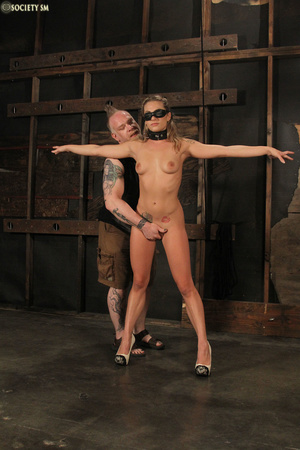 Brunette babe gagged, bound, masked then - XXX Dessert - Picture 1