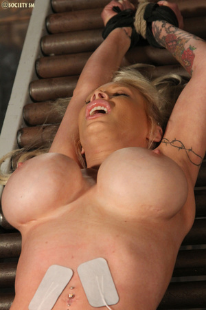 Hot busty blonde racked and gagged enjoy - XXX Dessert - Picture 1