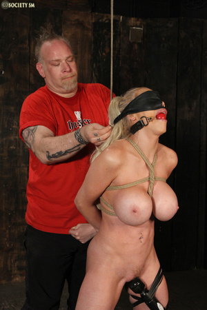 Hot busty blonde racked and gagged enjoy - XXX Dessert - Picture 4