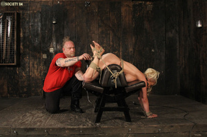 Hot busty blonde racked and gagged enjoy - XXX Dessert - Picture 9