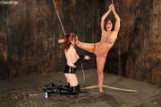 hot brunette punished master