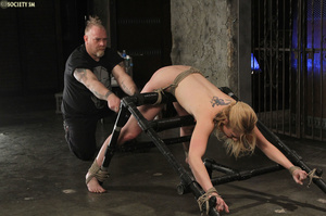 Curvy babe racked and tied gets whipped  - XXX Dessert - Picture 9