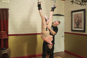 Hark hair slut tied, upturned and hung g - XXX Dessert - Picture 14