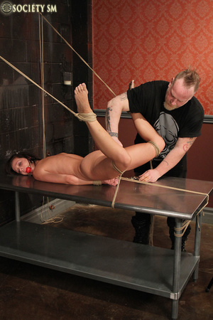 Cute butte brunette roped and bound gets - XXX Dessert - Picture 7