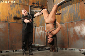 Sexy ass brunette bound, upturned, whipp - XXX Dessert - Picture 11
