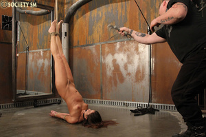 Sexy ass brunette bound, upturned, whipp - XXX Dessert - Picture 14