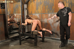 Sexy ass brunette bound, upturned, whipp - XXX Dessert - Picture 15