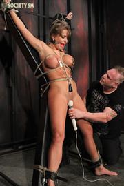 busty hottie gets gagged