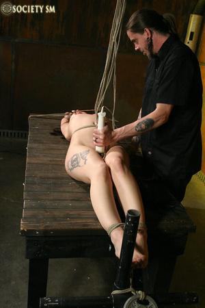 Hot ass tattooed brunette roped, hung, w - XXX Dessert - Picture 5