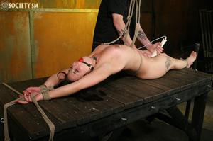 Hot ass tattooed brunette roped, hung, w - XXX Dessert - Picture 14
