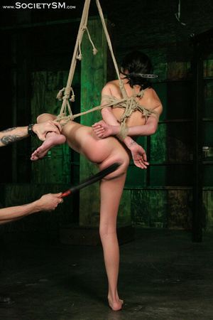 Sweet brunette tied, gagged, roped and s - XXX Dessert - Picture 7