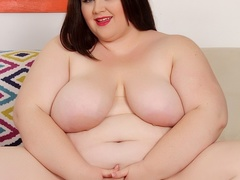 Chubby babe in pink dress and spotty lingerie fucks - Picture 8