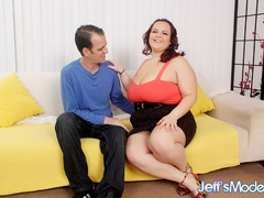 Sexy big damsel works cock with mouth, massive tits and - Picture 1