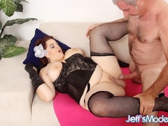 Hot big brunette in black corset gets licked and fucked - Picture 5