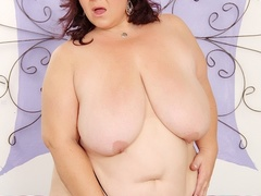 Naughty chubby milf in black negligee joins brunette in - Picture 5