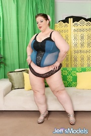 big chubby brunette blue