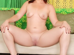 Fresh curvy brunette in black lingerie sucks and fucks - Picture 8