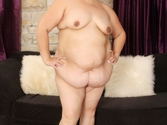 Extra big short hair MILF in black negligee flaunts - Picture 8