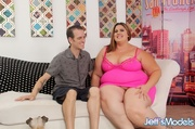 chubby brunette pink negligee