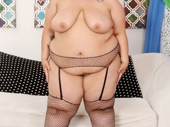 Blonde in glasses and black lingerie flaunts big booty - Picture 6