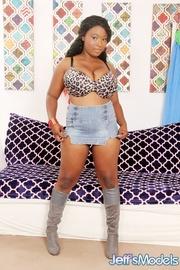 hot ebony spotted bra