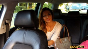 Gorgeous babe with banging body in white shirt and black pants gets naked and reveals her luscious boobs while she lets the driver screw her in different positions inside her fake taxi before she sucks the spunk out of his dick. - XXXonXXX - Pic 1