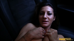Gorgeous babe with banging body in white shirt and black pants gets naked and reveals her luscious boobs while she lets the driver screw her in different positions inside her fake taxi before she sucks the spunk out of his dick. - XXXonXXX - Pic 6