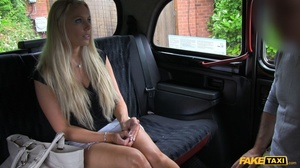 Steaming hot blonde pose her foxy body in a fake taxi before she takes off her black shirt and shows her big boobs then sucks the driver's dick before she takes off her white skirt and lets him lick her wide open twat then fuck her in multiple positions til he blasts his spunk on her pretty face. - XXXonXXX - Pic 3