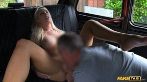 Steaming hot blonde pose her foxy body in a fake taxi before she takes off her black shirt and shows her big boobs then sucks the driver's dick before she takes off her white skirt and lets him lick her wide open twat then fuck her in multiple positions til he blasts his spunk on her pretty face. - XXXonXXX - Pic 10