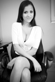 gorgeous office chick takes