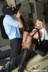 Two guys double penetrate a blonde slut before…