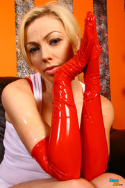babe with red latex