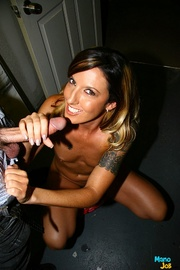 slim babe gets into