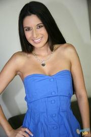 stunning dark haired woman