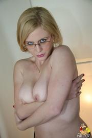 intimidating blonde secretary gets