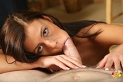 sultry brunette lady takes