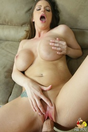 big titty brunette strips