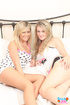 Two hot blondes have a sexy and busty sleepover.