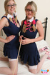 two curvy women dressed
