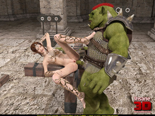 Ogres with big dicks drill horny and wet bombshell - Picture 2